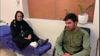 درمان بیماری از افغانستان و کاندید قطع از زیر زانو در کلینیک زخم تلما