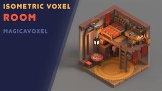 طراحی اتاق سهبعدی در مجیکاواکسل | MagicaVoxel