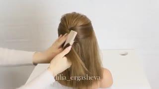 آموزش مدل مو دخترانه مخلوط برای موهای کوتاه- مومیس مشاور و مرجع تخصصی مو