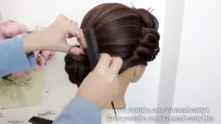 آموزش مدل مو دخترانه تمام پف- مومیس مشاور و مرجع تخصصی مو