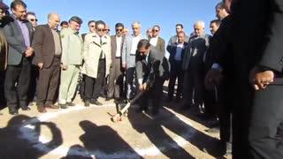 آیین آغاز عملیات اجرایی احداث پروژه نیروگاه خورشیدی (فتو ولتائیک) ۱۰ مگاواتی شهید حمید باکری سمنان