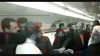 گفت وگوی دکتر روحانی رییس جمهوری با مردم در مسیر قطار برقی هشتگرد