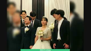 چن در مراسم عروسی دوستش