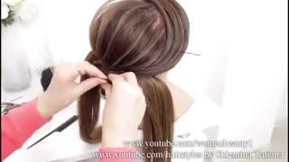 آموزش مدل مو دخترانه گل های بهاری- مومیس مشاور و مرجع تخصصی مو