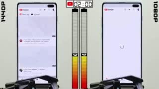 مقایسه مصرف باتری گوشی Galaxy S10 در دو رزولوشن FullHD+ و QuadHD+