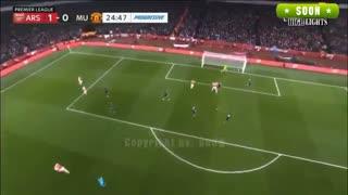 خلاصه بازی دیدنی آرسنال 2 - منچستریونایتد 0 (هفته بیست و یکم لیگ انگلیس)