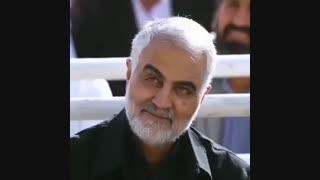 لبخند شیرین شهید سردار سلیمانی در نماز عید فطر