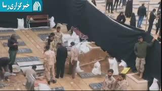 آماده سازی محل خاکسپاری سردار شهید حاج قاسم سلیمانی