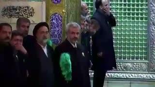 """انتظار پدر شهید محسن حججی برای ورود پیکر """"فرمانده"""" به روضه منور رضوی"""