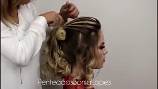 آموزش مدل مو دخترانه موج مجلسی- مومیس مشاور و مرجع تخصصی مو