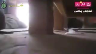 وضعیت سربازان آمریکایی در لحظه برخورد موشک