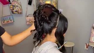 آموزش مدل مو دخترانه مجلسی خیلی برجسته- مومیس مشاور و مرجع تخصصی مو