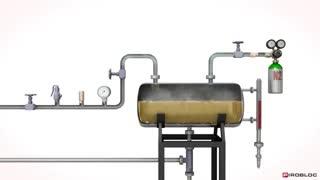 منبع انبساط در مدارهای گرمایش مایع حرارتی صنعتی
