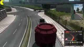 گیم پلی Euro Truck Simulator 2 Road to the Black Sea با کشنده اسکانیا و محموله ترافیکی کمر شکن