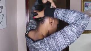 آموزش مدل مو دخترانه برای موهای کوتاه آفریقایی- مومیس مشاور و مرجع تخصصی مو