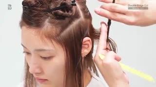 آموزش مدل مو کوتاه برش دو لبه- مومیس مشاور و مرجع تخصصی مو
