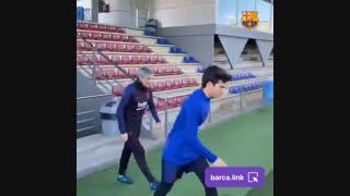 اولین تمرین بارسلونا تحت مربیگری کیکه ستین