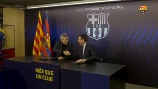لحظات دیده نشده از معارفه کیکه ستین در بارسلونا