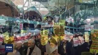 راهپیمایی ضد آمریکایی نمازگزاران در شهرهای مختلف ایران