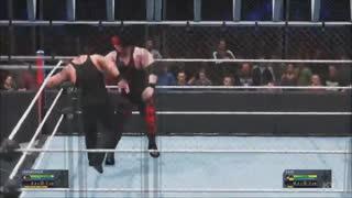مسابقه کشتی کج فوق العاده جذاب آندرتیکر و کین در قفس - WWE 2K20