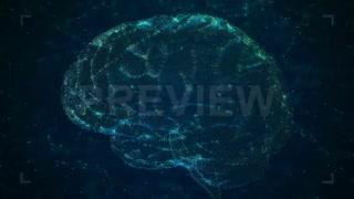 فوتیج بک گراند موشن گرافیک هوش مصنوعی AI Brain Technology
