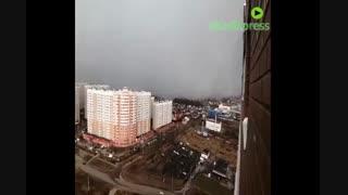 وقوع طوفان برفی در شهر Tver روسیه