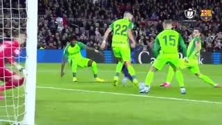 خلاصه بازی پرگل بارسلونا 5 - لگانس 0 از جام حذفی اسپانیا