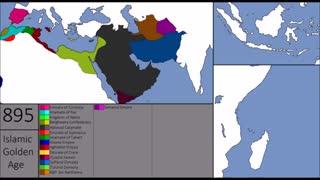نقشه تغییرات کشورهای اسلامی از سال ۶۲۲ تا ۱۴۵۳