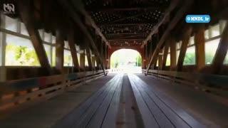 بازسازی قدیمی ترین پل چوبی دنیا