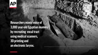 صدای مومیایی 3000 هزار ساله را گوش کنید !!!!