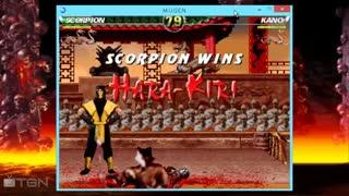 گیم پلی بازی مورتال کمبت  Mortal Kombat 1 M.U.G.E.N تدوین شده برای کامپیوتر_با کیفیت 4KHD