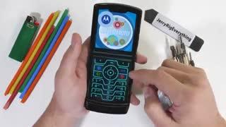 تست مقاومت گوشی Moto Razr 2020