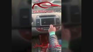 مانیتور فابریک تویوتا کمری گرند دی وی دی اندروید خودرو