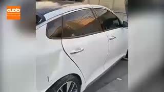 فیلمی از لحظه دستگیری سارق اپتیما در شهرک غرب تهران