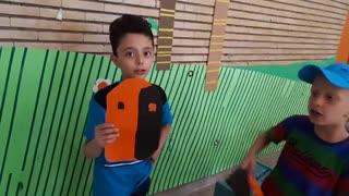 توضیحات بچه ها درباره ماسک هایی که ساخته اند