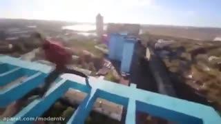 پارکور و حرکات خطرناک در ارتفاع2