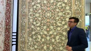 فرش افشان کاشان مدل رزگلد - خرید به قیمت کارخانه از بازار فرش ماهور
