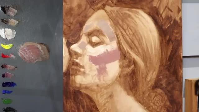 آموزش تکنیک نقاشی پرتره رنگ روغن