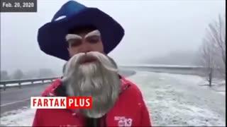 سوتی جالب خبرنگار حین گزارش زنده!