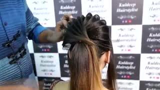 آموزش مدل مو دخترانه هندی برای عروسی- مومیس مشاور و مرجع تخصصی مو