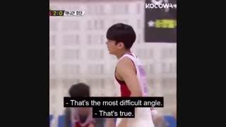 بسکتبال بازی کردن مین یونگی( شوگا )
