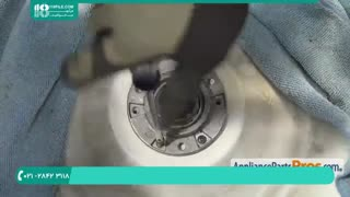 آموزش تعمیر ماشین لباسشویی -تعویض واشر شافت آبکش