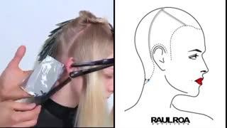 آموزش تکنیک جدید رنگ کردن ۲۰۲۰ هایلایت مویرگی- مومیس مشاور و مرجع تخصصی مو