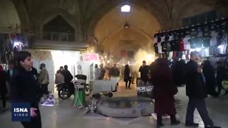 بازار و خیابانهای اراک در روزهای کرونایی آخر سال