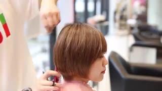 آموزش تغییر مدل مو کوتاه باب ساده- مومیس مشاور و مرجع تخصصی مو