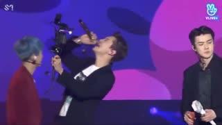 اجرای اهنگ butterfly effect  از اکسو در کنسرت سئول