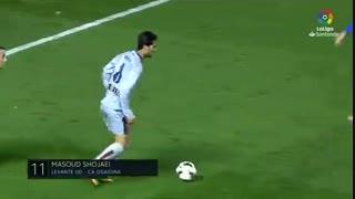 گل مسعود شجاعی به لوانته با پیراهن اوساسونا جزو ۲۰ گل برتر فصل