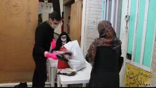 اهدای کالای عید بین نیازمندان در مرکز نیکوکاری اسلام آباد کرج