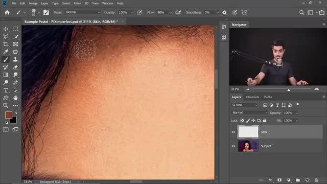 آموزش نقاشی دیجیتال پرتره یک دختر از روی عکس چهره