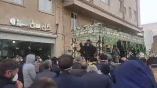 تشییع پیکر سردار سپاه پاسداران انقلاب اسلامی در زمان همه گیری کرونا